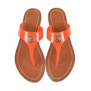 Tory Burch Cameron Leather Thong Sandals 9 NWOT